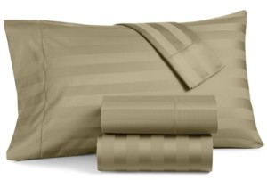 """Charter Club Damask 1.5"""" Stripe Twin Xl 3-Pc Sheet Set, 550 Thread Count 100% Supima Cotton, Created for Macy's Bedding"""
