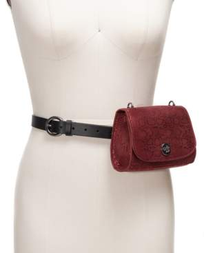 INC International Concepts I.n.c. Snake-Embossed Convertible Belt Bag, Created For Macy's