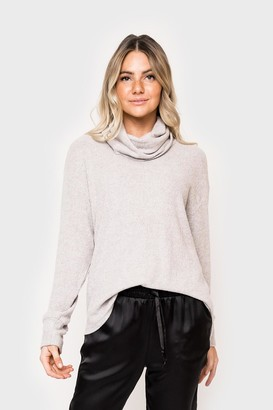 Gibson Cozy Ribbed T-Neck Sweater