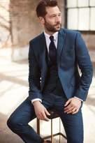 Mens Next Bright Blue Flannel Suit: Waistcoat