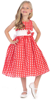 Red Polka Dot Bow Fit & Flare Dress - Toddler & Girls