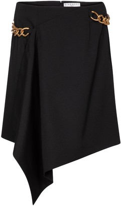 Givenchy Chain-trimmed wool miniskirt
