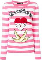 Love Moschino striped front printed top