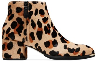Cole Haan Grand Ambition Leopard-Print Calf Hair Ankle Boots