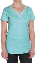 Woolrich First Forks Split-Neck Henley Shirt - Short Sleeve (For Women)