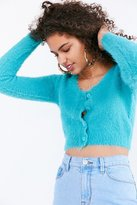 Kimchi & Blue Kimchi Blue Fuzzy Button-Down Cropped Cardigan