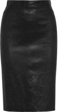 Givenchy Pencil Skirt In Black Leather