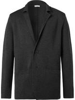 Sunspel Charcoal Milano Merino Wool Blazer - Gray