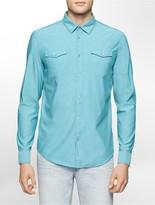 Calvin Klein Slim Fit Chambray Aviator Shirt