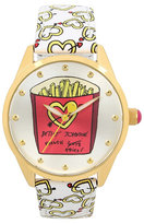 Betsey Johnson Keep Your Eyes On The Fries Boxed Watch
