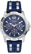 GUESS Mens Masculine Sport Navy and Silvertone Watch