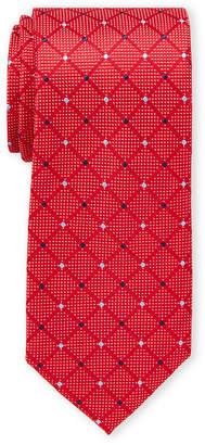 Nautica Red Manzanita Check Tie