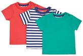 John Lewis Short Sleeve Jersey T-Shirt, Pack of 3, Assorted