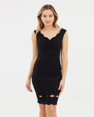 Lipsy Ruched Bardot Sculpt Dress