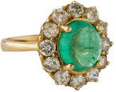 Ring 14K Emerald & Diamond