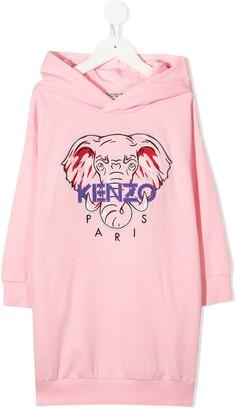 Kenzo Kids Logo Hooded Dress