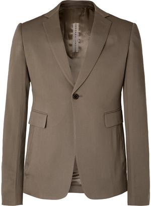 Rick Owens Grey Slim-Fit Virgin Wool Blazer