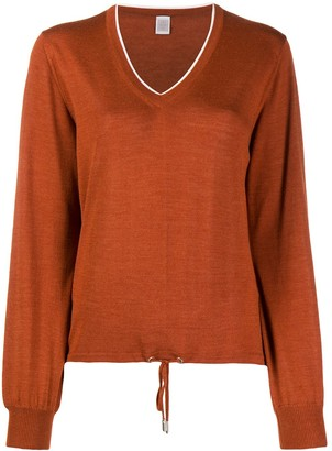 Eleventy Contrast-Trimmed Relaxed-Fit Jumper