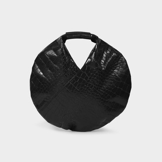 MM6 MAISON MARGIELA Small Circle Japanese Shoulder Bag In Black Synthetic Leather