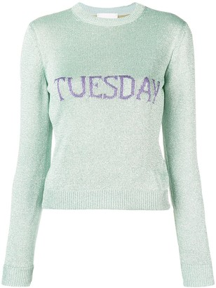 Alberta Ferretti Tuesday intarsia sweater