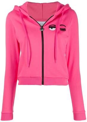 Chiara Ferragni cropped sweatshirt jacket