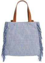 Sole Society Huxlee Canvas Tote - Blue