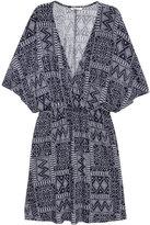 H&M Short Jersey Dress - Dark blue/patterned - Ladies