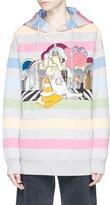 Marc Jacobs City appliqué stripe oversized hoodie