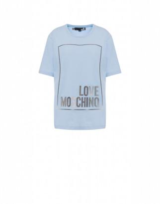 Love Moschino Jersey T-shirt With Iridescent Logo