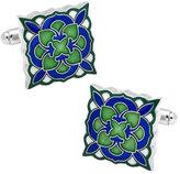 Cufflinks Inc. Men's Green and Blue Deco Bloom Cufflinks
