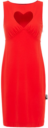Love Moschino Cutout Jersey Mini Dress