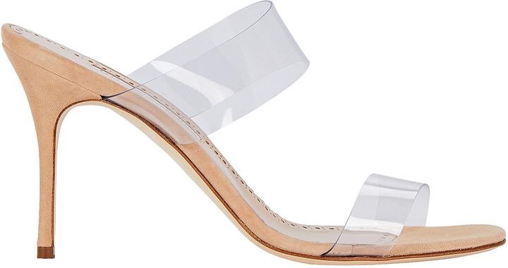 Manolo Blahnik Scolto PVC Strap Sandals