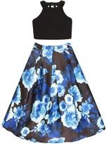 Speechless Girls 7-16 Two Piece Sleeveless High Neck Top Maxi Floral Skirt Set