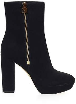Michael Kors Frenchie Black Platform Ankle Boots