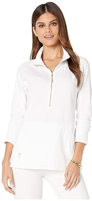 Lilly Pulitzer Skipper Solid Popover (Resort White) Women's Long Sleeve Pullover