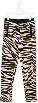 Kenzo tiger stripe leggings - kids - Cotton - 14 yrs