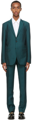 Lanvin Green Wool Half-Canvas Suit