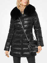 Michael Kors Fur-Trimmed Quilted Down Coat