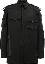 Yohji Yamamoto zip detail cargo pocket shirt