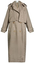 Stella McCartney Cecile oversized hound's-tooth wool trench coat
