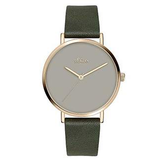 S'Oliver Womens Analogue Quartz Watch with Leather Strap SO-3910-LQ