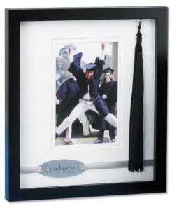 """Lawrence Frames Black Wood Dbl Mat Graduate - 4"""" x 6"""""""