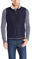 Nautica Men's Mixed Media Fleece Full Zip Vest