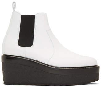 Pierre Hardy White Jodhpur Boots