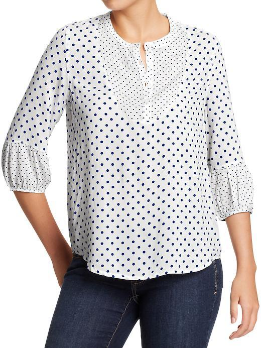 Old Navy Women's Mixed-Dots Crepe Blouses