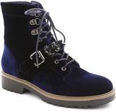 XOXO Blue Velvet Kason Boot