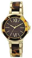 Anne Klein Women's Quartz Watch with Brown Dial Analogue Display and Brown Plastic Bracelet AK/N1148BMTO