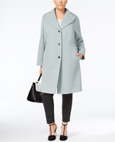 Anne Klein Plus Size Shawl-Collar Walker Coat