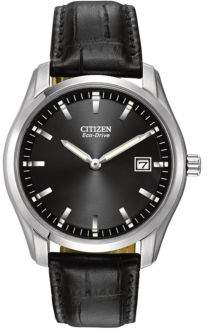 Citizen Eco-Drive Croc-Embossed Leather Watch