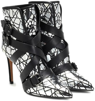 Balmain Metallic leather ankle boots